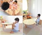 丸テーブルと変化いすの組み合わせ☆