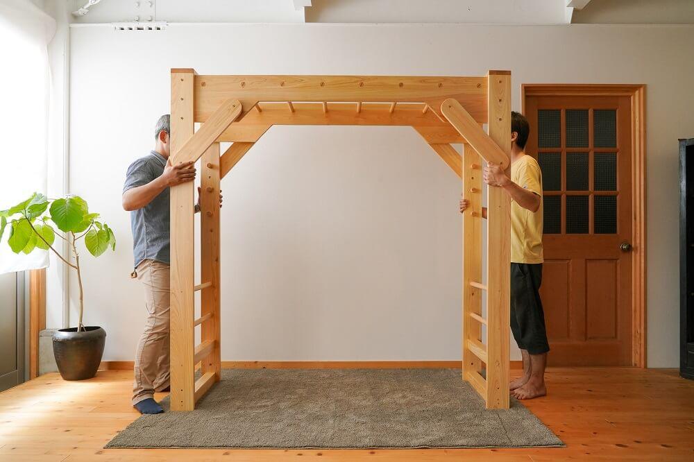 室内雲梯木製