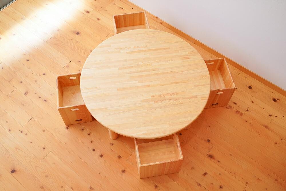 保育園用丸テーブル