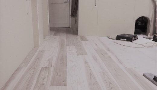 床が貼られた!!