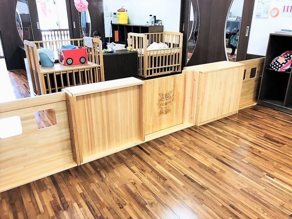 保育園用木製パーティション沖縄