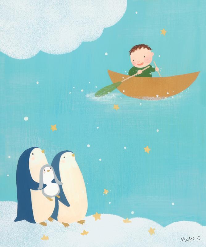 ペンギンのお話 絵画