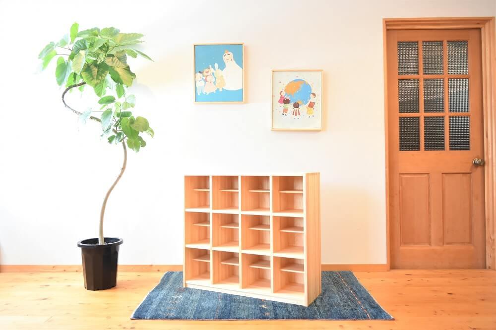 保育園木製靴箱