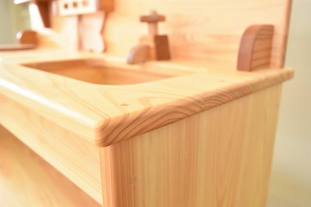 保育園木製キッチン