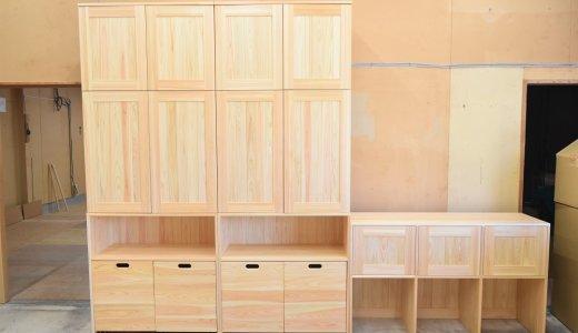 幼稚園様にお届けの木製収納棚の完成です*