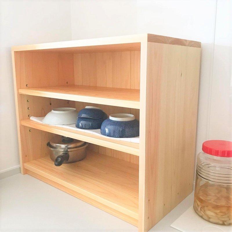 調味料棚 木の棚