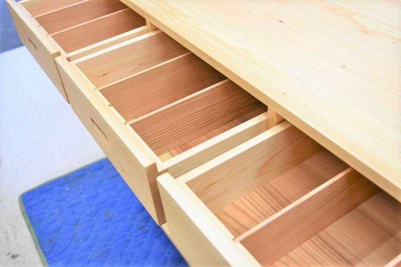 キッチンカウンター 木製家具 引き出し付きカウンター