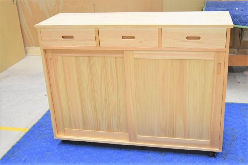 木の家具 キッチンカウンター